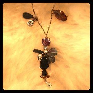 ANN TAYLOR 🌸 Delicate Necklace Rhinestone Pearl